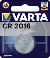 Batterij Varta knoopcel CR2016 lithium blister à 1stuk
