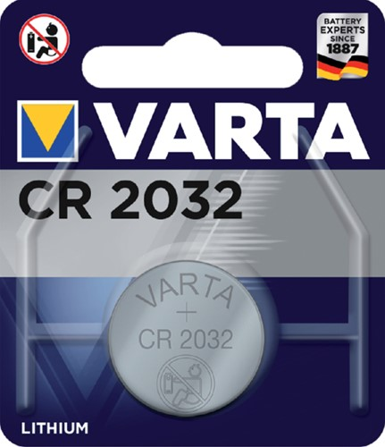 Batterij Varta knoopcel CR2032 lithium blister à 1stuk