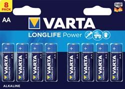 Batterij Varta Longlife Power 8xAA