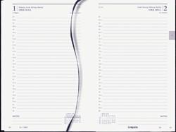 Agenda 2020 Brepols Saturnus kort 1dag/1pagina zwart