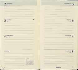 Agenda 2022 Brepols Interplan gebonden 7dag/2pagina's zwart