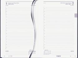 Agenda 2020 Brepols Saturnus kort 1dag/1pagina blauw