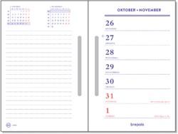 Omlegblok 2022 Brepols met sleufponsing 7 dag/2 pag 10x15cm