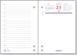 Omlegblok 2021 Brepols 3 boorgaten 1 dag/2 pagina 8.4x12cm