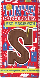 Chocolade Tony's Chocolonely melk marsepein S 180 gr