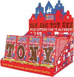 Tony's Chocolonely letterrepen display a 60 stuks alfabet