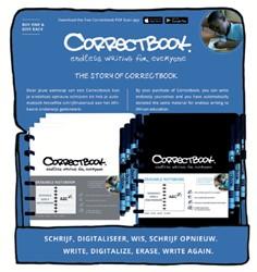 Notitieboek Correctbook A5 lijn 40blz zwart en wit in counterdisplay à 20 stuks
