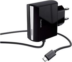 Oplader Hama Micro USB 1,2A zwart