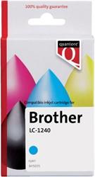 Inktcartridge Quantore Brother LC-1240 blauw