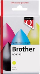 Inktcartridge Quantore Brother LC-1240 geel