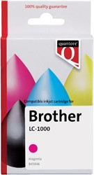 Inktcartridge Quantore Brother LC-1000 rood