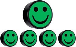 Magneet smiley 35mm groen