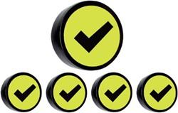 Magneet check 35mm geel