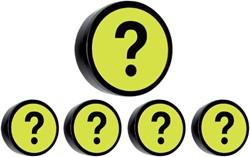 Magneet vraagteken 35mm geel