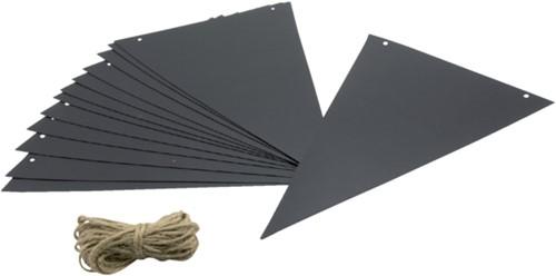 Krijtbord securit vlaggen set 14 stuks zwart + 1 marker-2