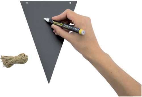 Krijtbord securit vlaggen set 14 stuks zwart + 1 marker-4
