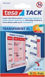 Dubbelzijdige kleefpads Tesa tack transparant XL 36stuks