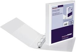 Presentatie ringband Falken A4 4-rings D-mech 25mm PP wit