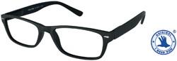 Leesbril +1.00 LUCKY bruin-zwart