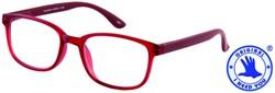Leesbril +1.50 regenboog donkerrood