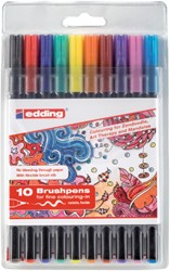 Brushpen edding 1340 assorti tangle etui à 10st