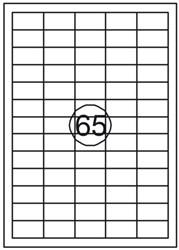 Etiket Quantore 38X21.2mm 975stuks