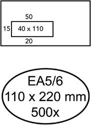 Envelop Quantore 110x220mm venster 4x11cm links zelfkl 500st