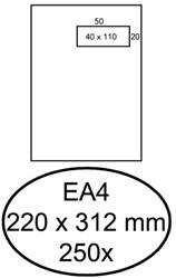 Envelop Hermes EA4 220x312mm venster 4x11rechts zelfkl 250st