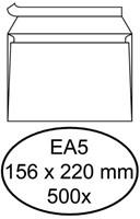 Envelop Hermes bank EA5 156x220mm zelfklevend wit 500stuks