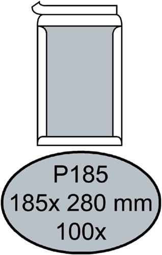 Envelop Quantore bordrug P185 185x280mm zelfkl. wit 100stuks