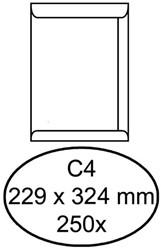Envelop Hermes Digital C4 229x324mm zelfklevend wit 250stuk