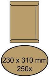 Envelop akte 230x310mm zelfklevend 90gr bruin 250stuks
