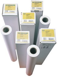 Inkjetpapier HP C6019B 610mmx45.7m 90gr coated
