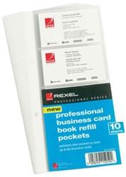 Visitekaartentassen Rexel professional soft touch