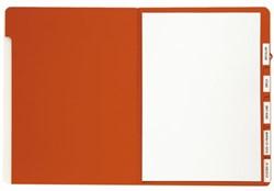 Sorteermap Jalema A4 6 vakken 270gr rood