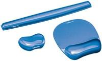 Polssteun voor muis Fellowes Crystals gel transparant blauw-2