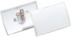 Badge Durable 8214 Click Fold met combiklem 54x90mm