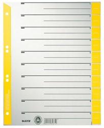 Scheidingsbladen Leitz A4 karton 230gr 6-gaats geel