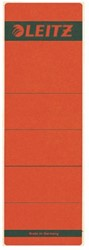 Rugetiket Leitz breed 62x192mm zelfklevend rood