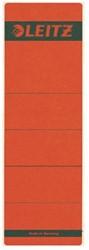 Rugetiket Leitz breed/kort 62x192mm zelfklevend rood