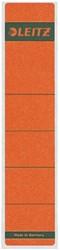 Rugetiket Leitz smal/kort 39x192mm zelfklevend rood