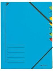 Sorteermap Leitz 7 tabbladen karton blauw