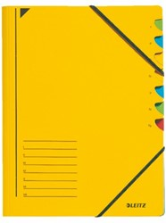 Sorteermap Leitz 7 tabbladen karton geel
