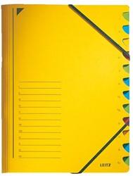 Sorteermap Leitz 12 tabbladen karton geel