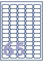 Etiket Avery J8551-25 38.1x21.2mm transparant 1625stuks-2