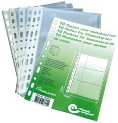 Showtas Rillstab A5 11-gaats voor 6 visitekaartjes PP transparant