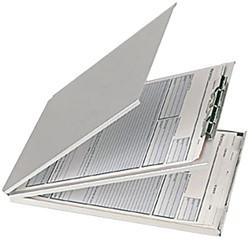 Klembordkoffer aluminium A4 met afdekplaat en top-opening