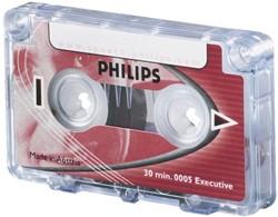 Cassette dicteer Philips LFH 0005 2x15min met clip