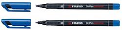 Viltstift Stabilo OHP 843/41 rond blauw 1mm