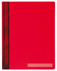 Snelhechter Durable A4 PVC extra breed rood